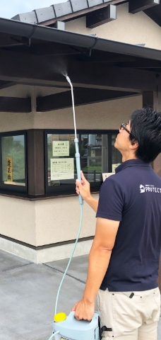 害虫ブロック施工施設(公共トイレ)